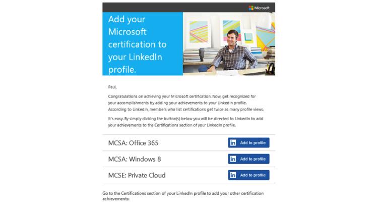 Microsoft A2P email screenshot