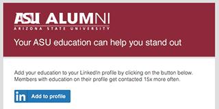 Arizona State University A2P email screenshot